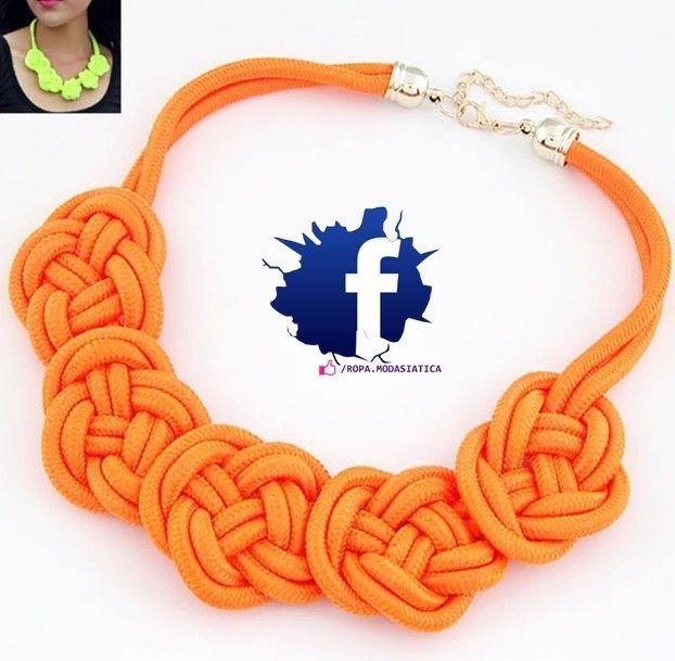collar naranja moda