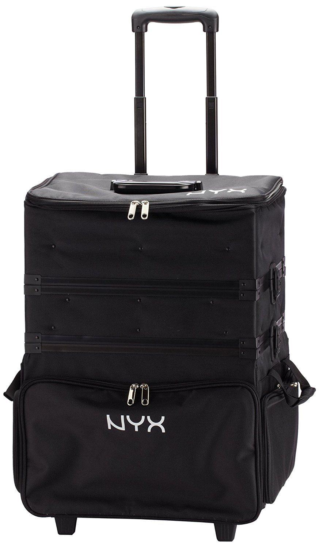 NYX Makeup Artist Train Case, 3 Tier Stackable Black/White