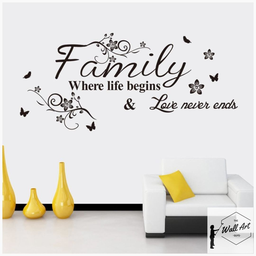Family Quote Wall Sticker For Your Home Wall Stickers Family Wall Decor Stickers Wall Quotes Decals Living Room