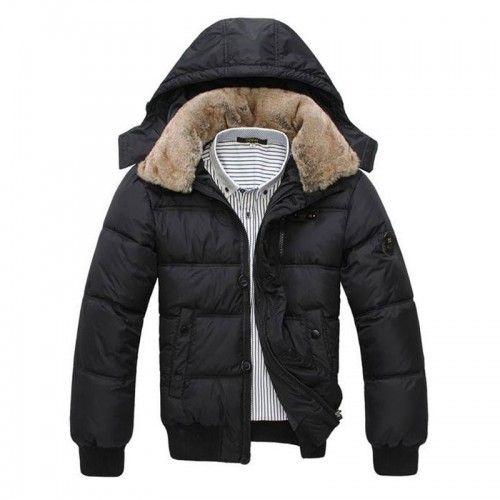 Doudoune Homme Sport chic luxe fourrure parka fashion Noire ... da48e9c61f1