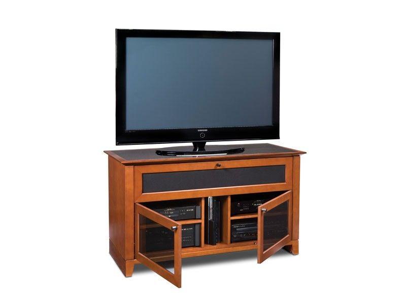 Bdi Novia 8428 Traditional Home Theatre Tv Cabinet In Natural Cherry