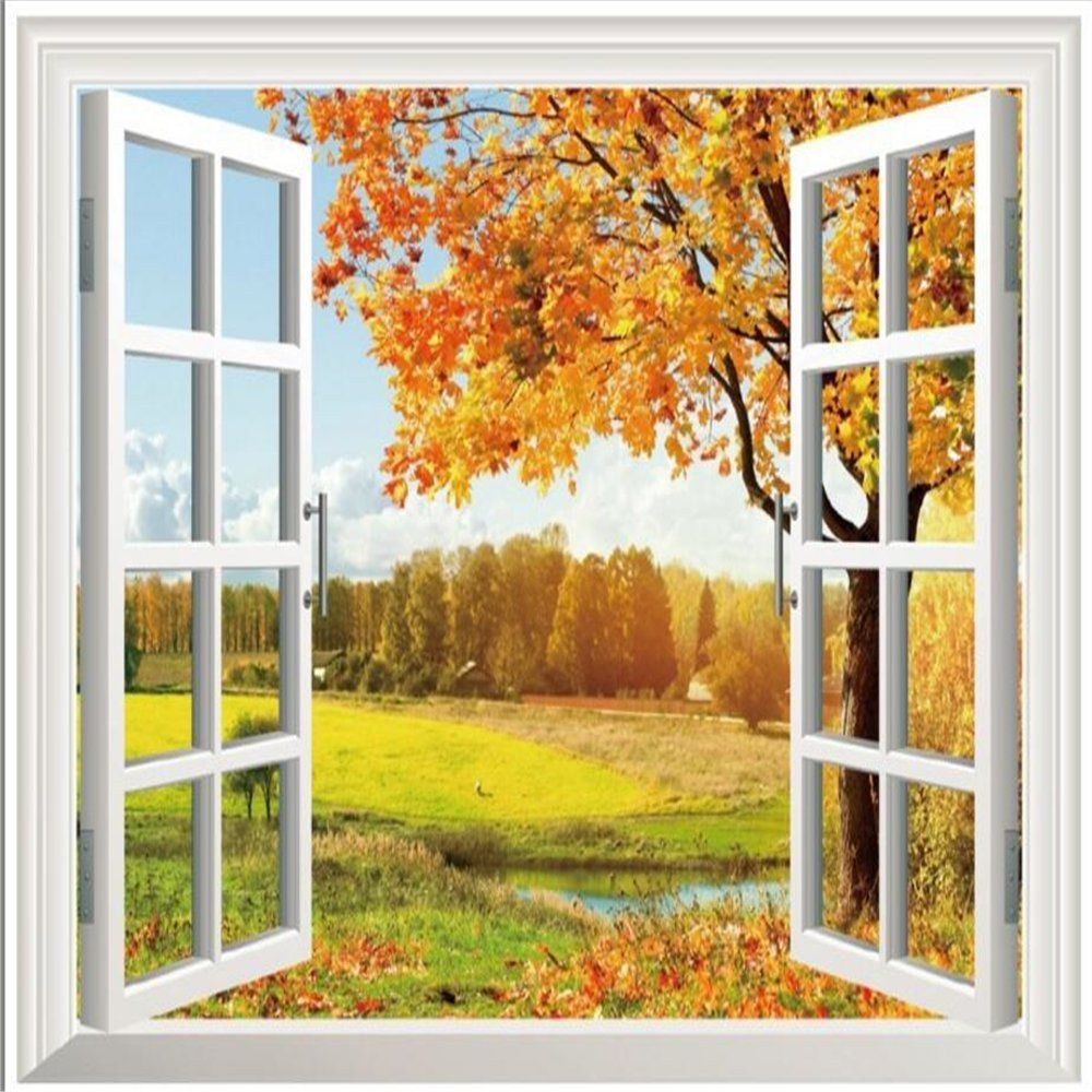 3D fake windows Wall Stickers Removable Wall Sticker For Livingroom ...