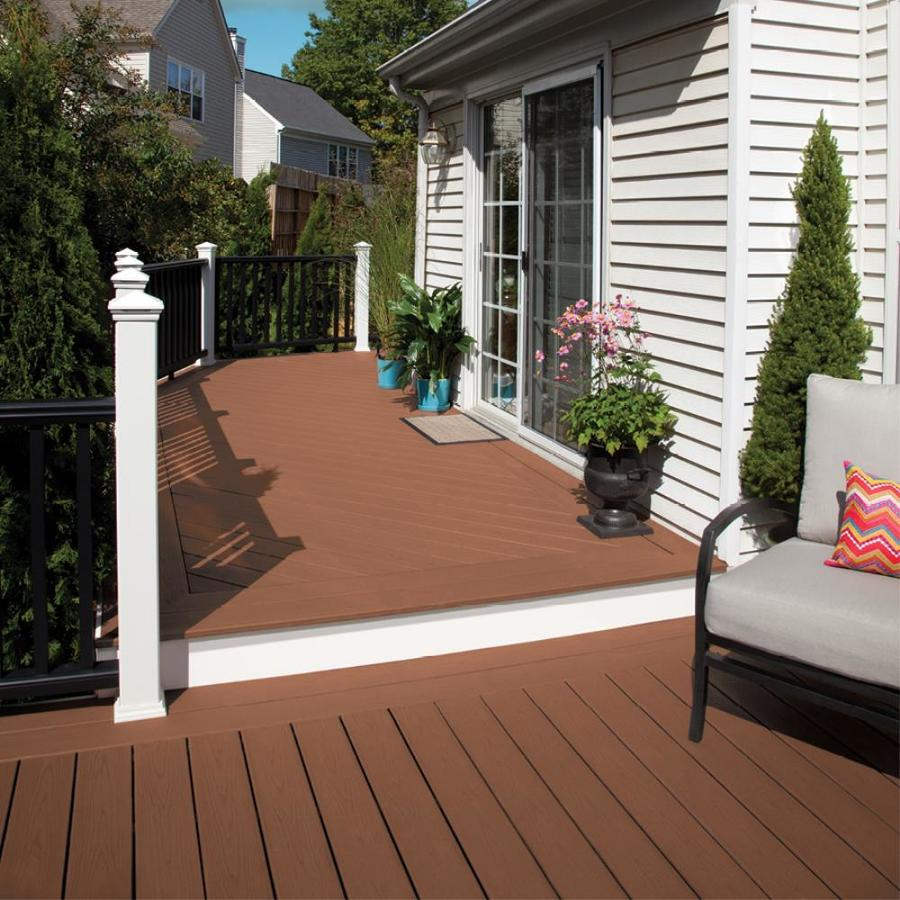 Trex Enhance 12 Ft Saddle Composite Deck Board Lowes Com Patio Pictures Building A Deck Trex Deck