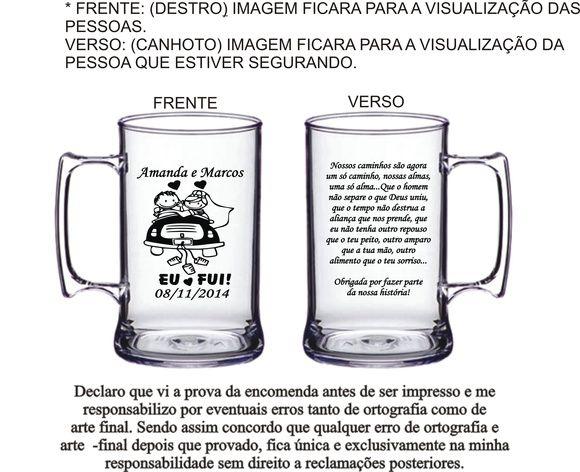 Caneca Acrílico 300 e 400 ml