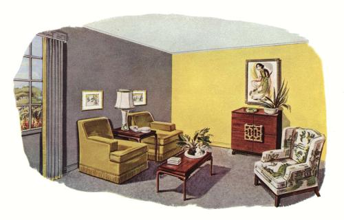 Living Room Decor 1950s Illustration Home Styles Living Room Decor 1950s House