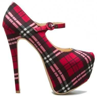 Tartan heels