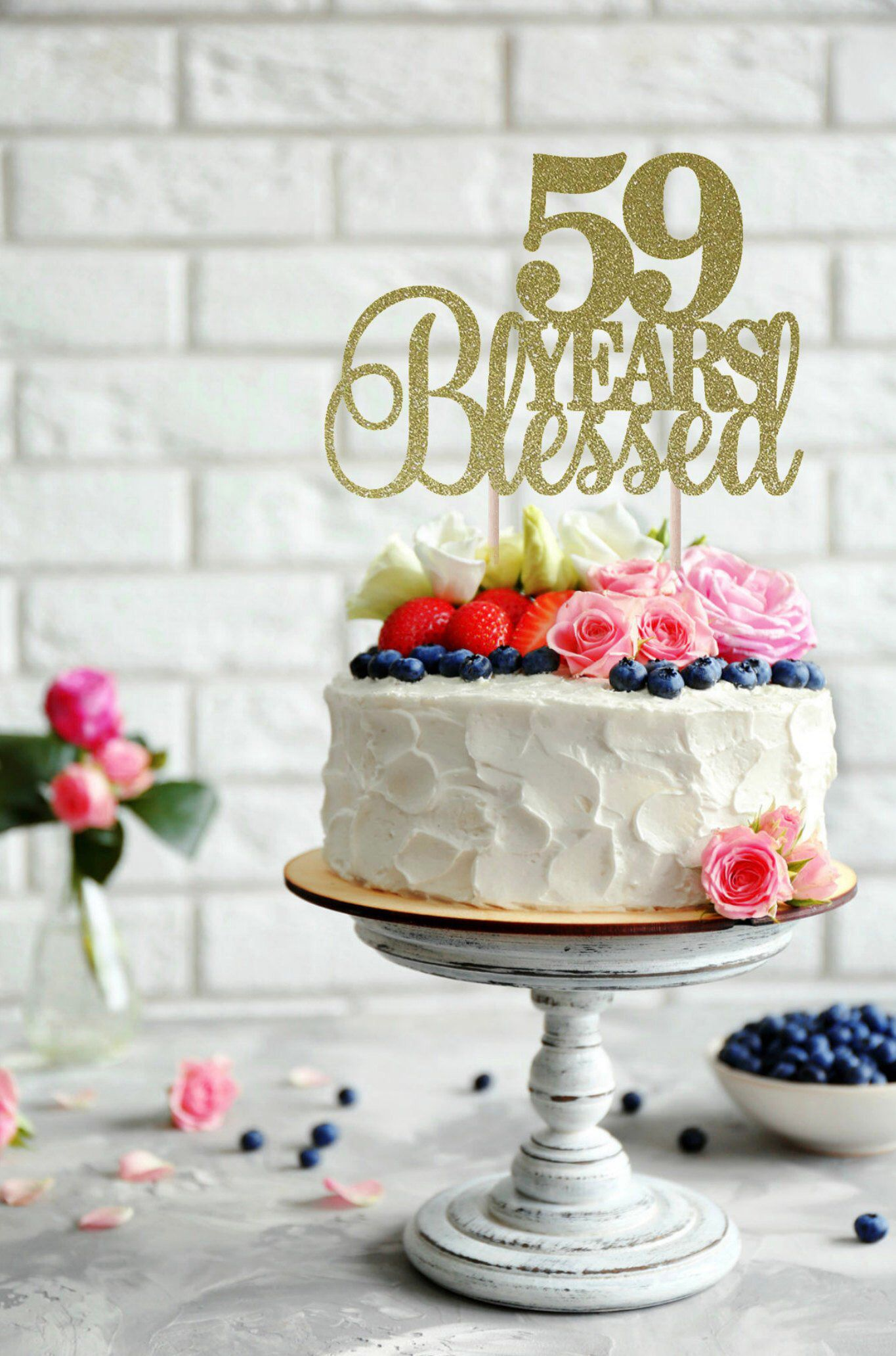 This Beautiful Thirty Cake Topper Is Perfect For Your Special 30th