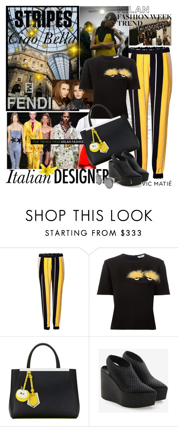 """""""Yellow Detail"""" by mariapia65 ❤ liked on Polyvore featuring Balmain, Fendi, Vic Matié, women's clothing, women, female, woman, misses, juniors and yellow"""