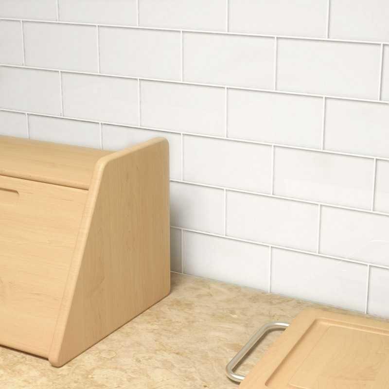 Cristezza Glass Subway Tile (Bright White) Bath Pinterest