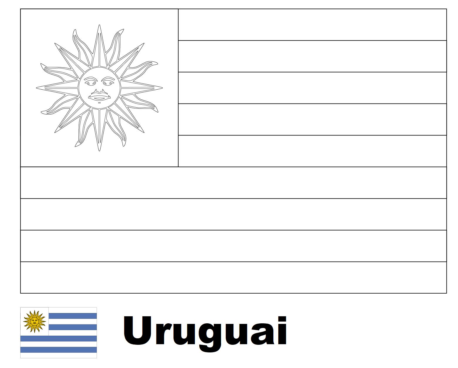 Bandeira Do Uruguai Para Colorir Png 1560 1252 Bandeira Do