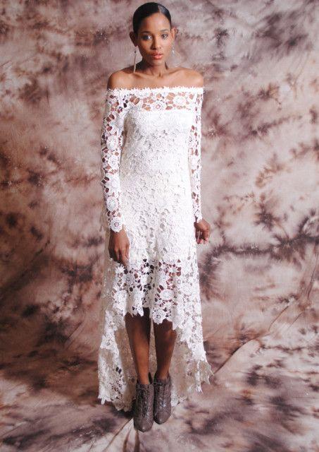 Zoe High Low Lace Dress Dreamers And Lovers Crochet Wedding Dresses Bohemian Wedding Dress Lace Crochet Lace Dress