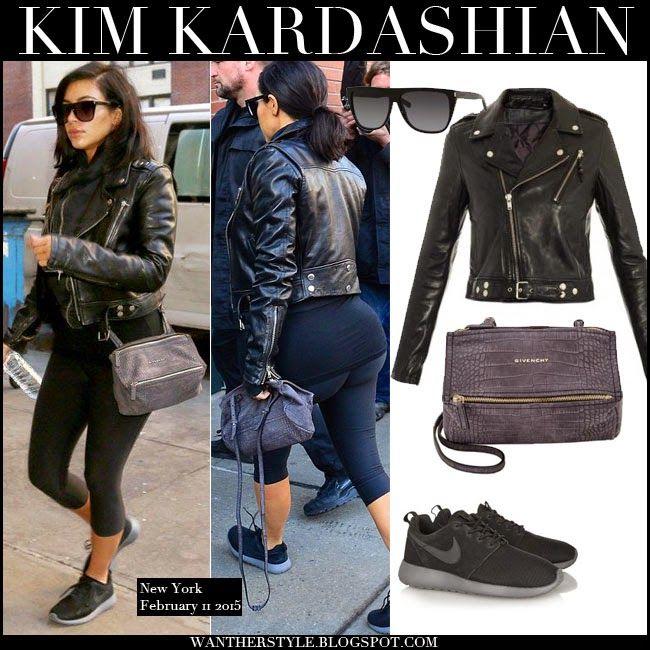 Kim kardashian black workout jacket