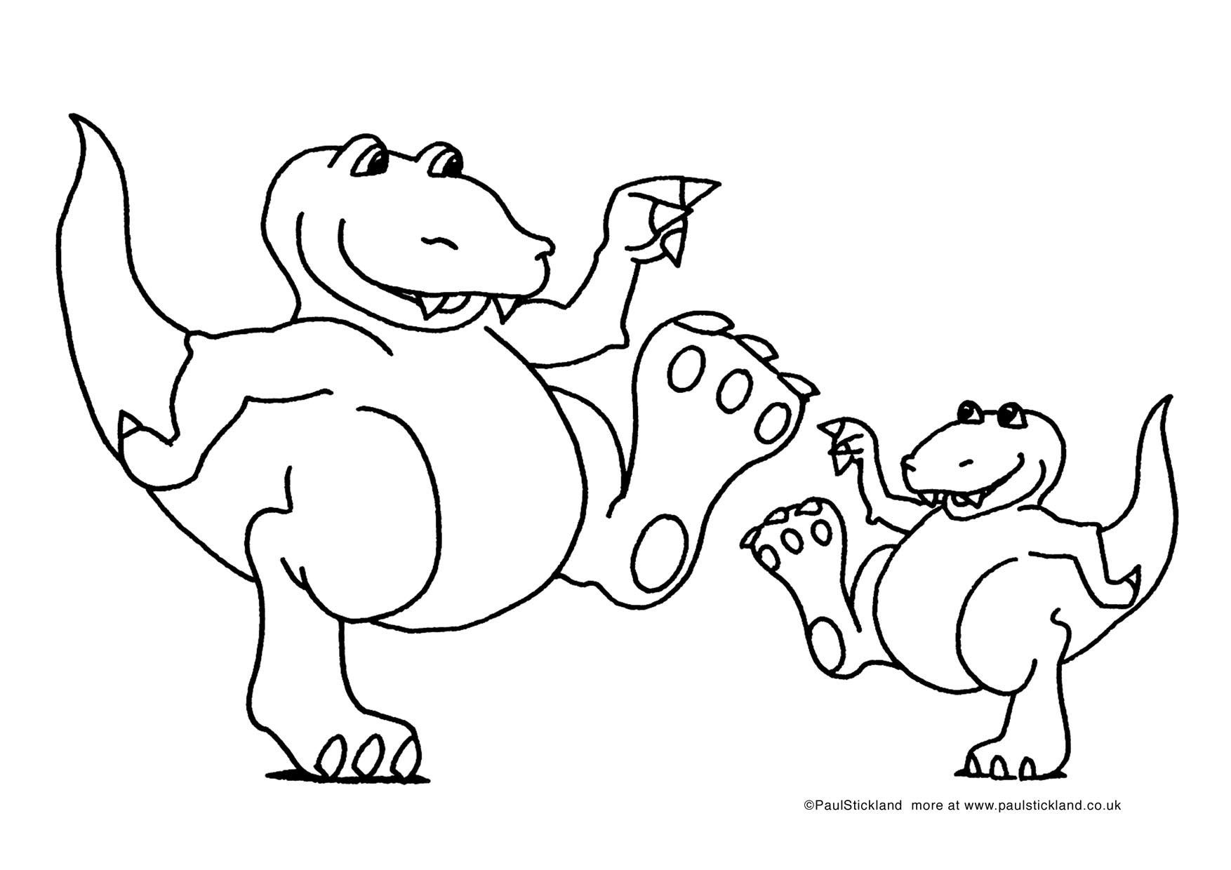 Dinosaur coloring pages from Paul Strickland\'s book Dinosaurs Roar ...
