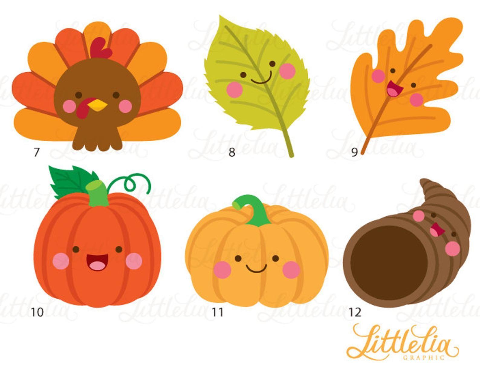 Thanksgiving Kawaii Thanksgiving Clipart 16091 Etsy Thanksgiving Drawings Thanksgiving Clip Art Thanksgiving Kids