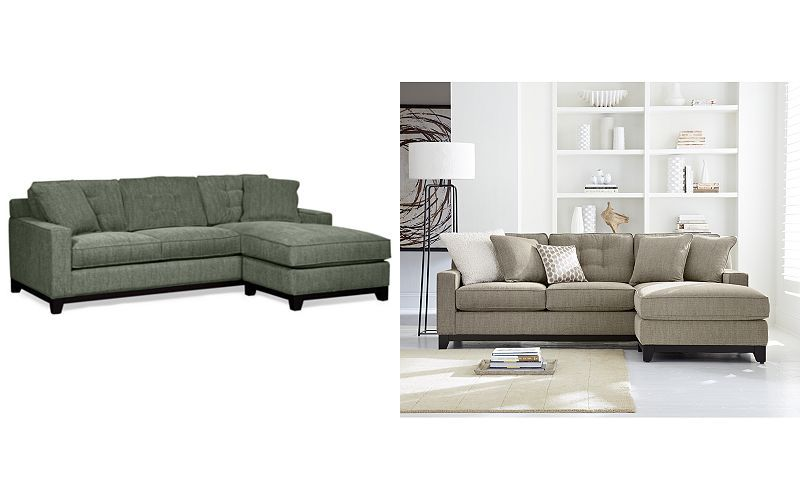 Clarke Fabric 2 Piece Sectional Queen Sleeper Sofa Bed with Chaise