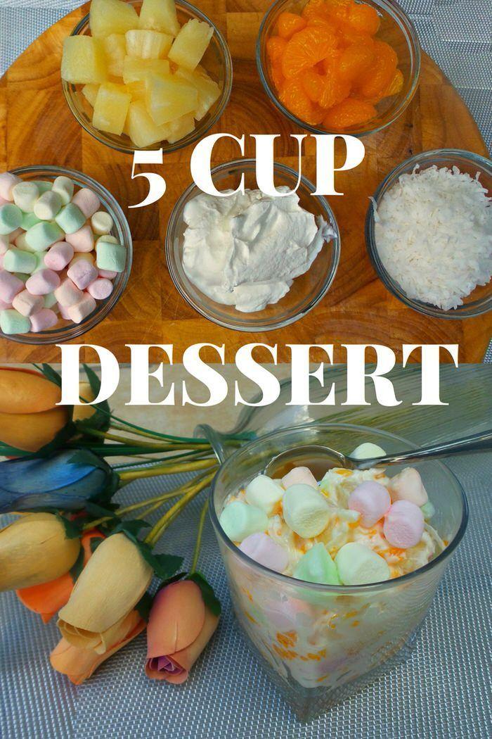 Grandma's Super Simple 5 cup Dessert Sour Cream Dessert Ambrosia Dessert #DairyPureSourCream AD @DairyPure