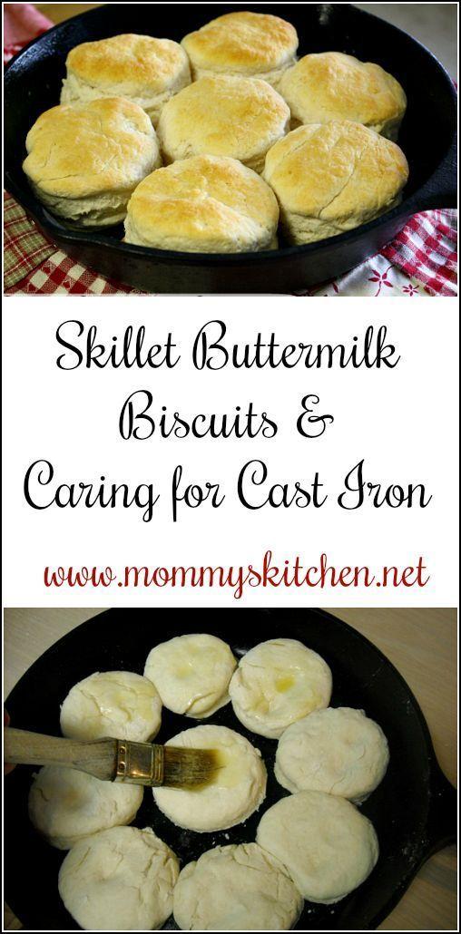 Skillet Buttermilk Biscuits & (Cast Iron Care) #skilletrecipes