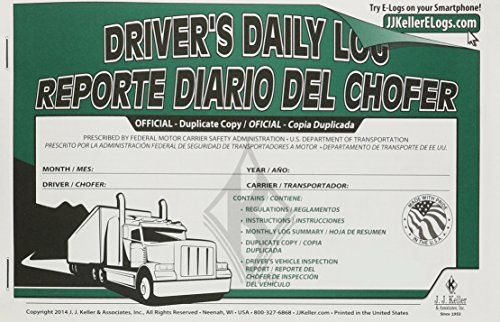 JJ Keller 8581 Driver\u0027s Daily Log Book Help satisfy the duty - driver daily log sheet template