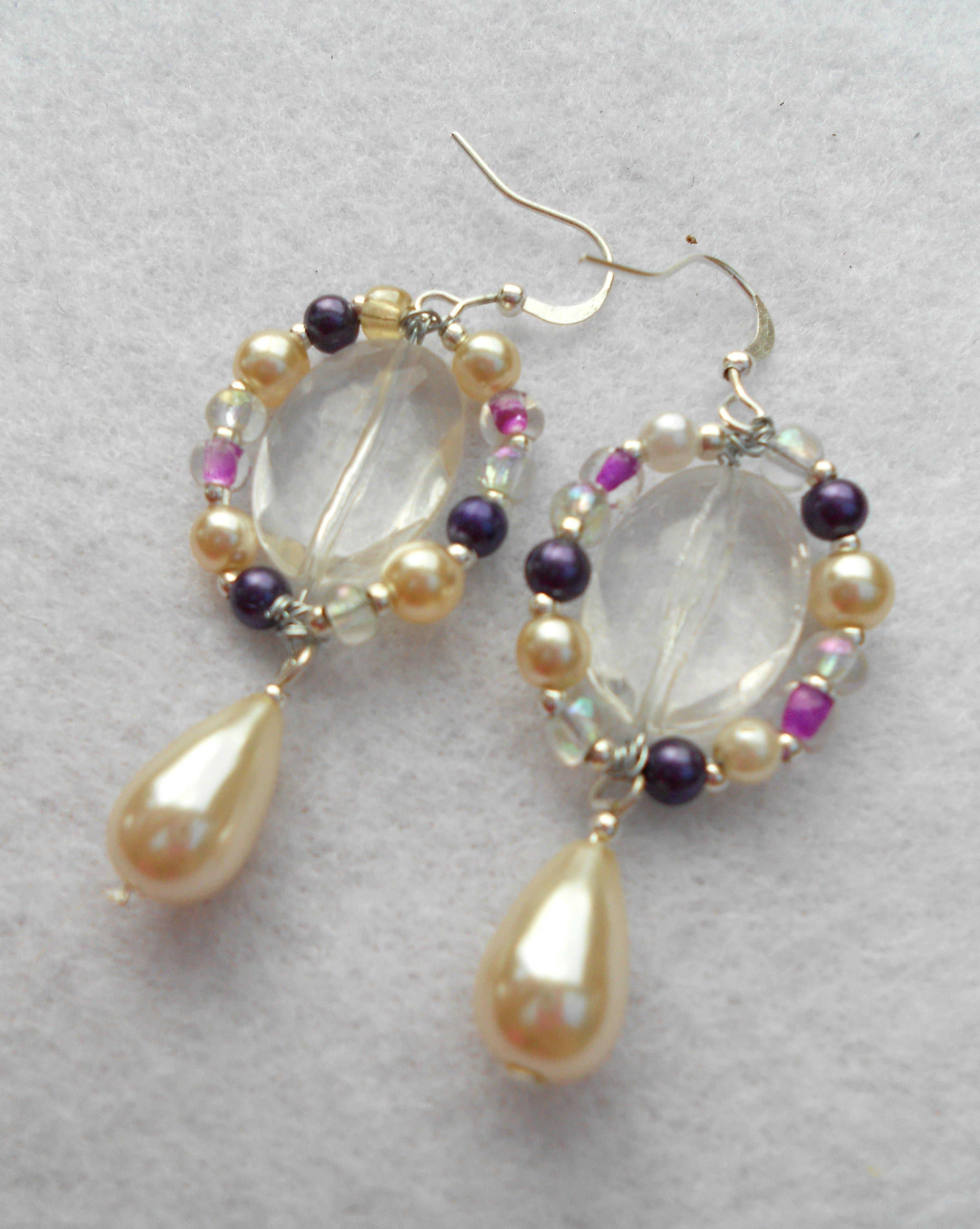 How to Make Simple Wire Earrings for Mothers Day | Beaded earrings ...