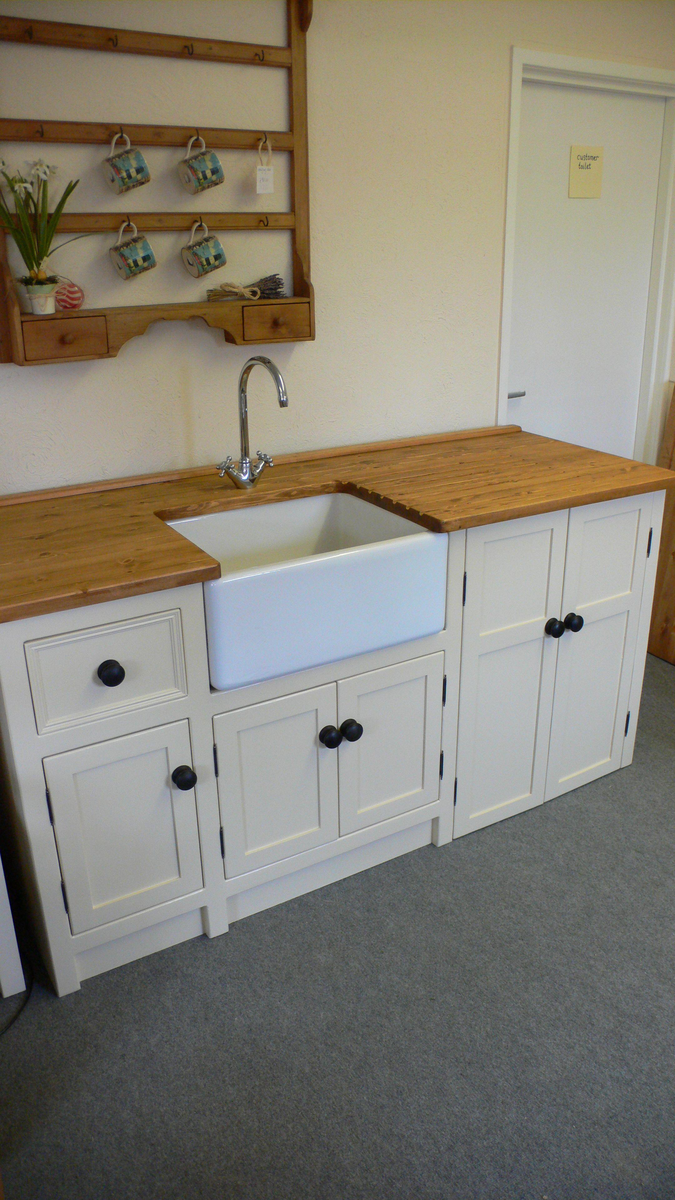 Belfast Sink Unit With Freestanding Appliance Cupboard Kitchen Sink Units Freestanding Kitchen Free Standing Kitchen Sink
