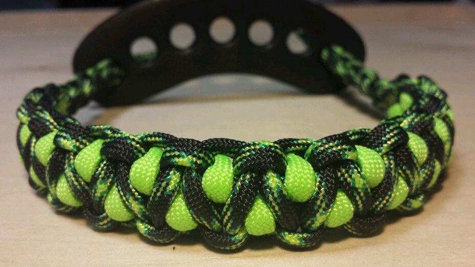 Archery bow wrist strap sling grn neon green cg reversible