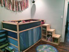 Ikea Kura Bed With Trofast Stairs