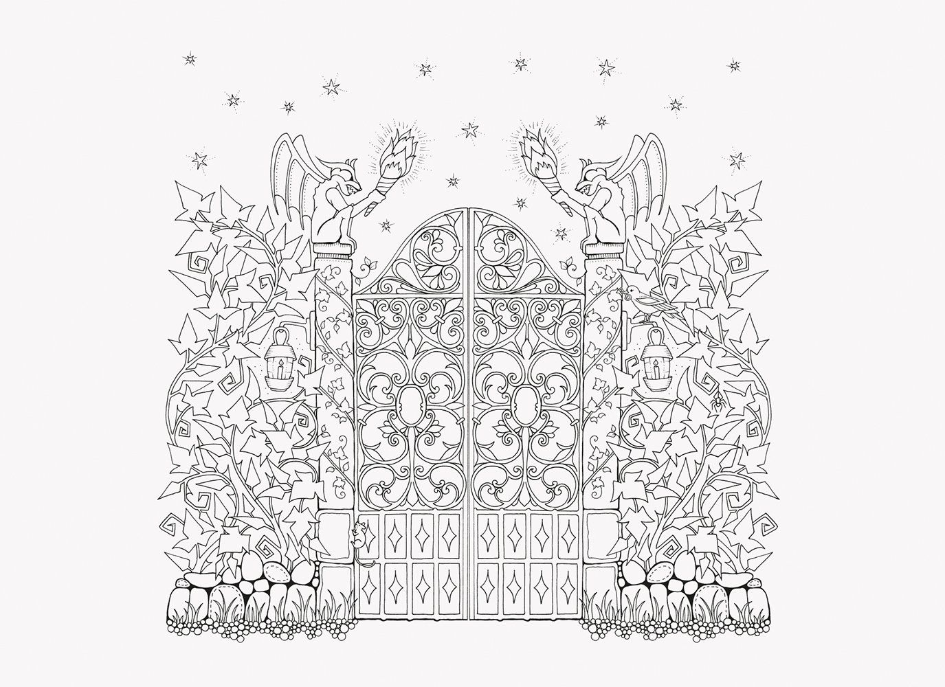Amazon Com Enchanted Forest 20 Postales Postales 9781856699792 Johanna Basfo Enchanted Forest Coloring Book Forest Coloring Book Enchanted Forest Coloring