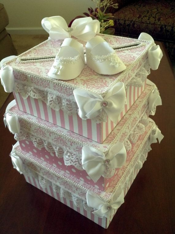 Large Baby Shower Card Box by TheCarriageShoppe on Etsy ...