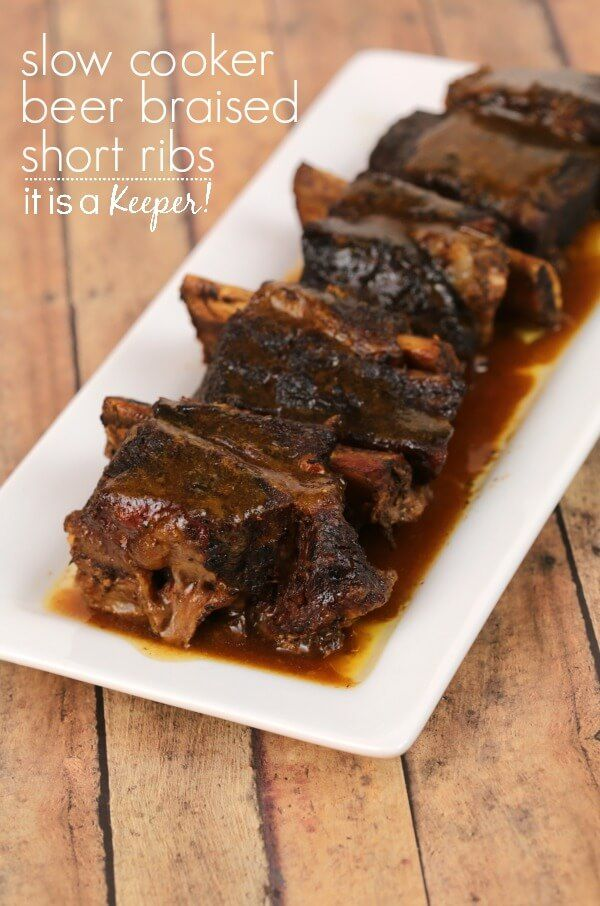 Slow Cooker Beer Braised Short Ribs This Easy Crock Pot Recipe Is One Of My Most Popular