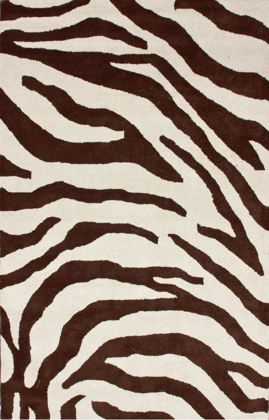 Rugs Usa Serendipity Zebra Print Brown Rug White Cream