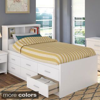 Shop for Sonax 2-piece Single/ Twin Captain\'s Storage Bed Set with ...