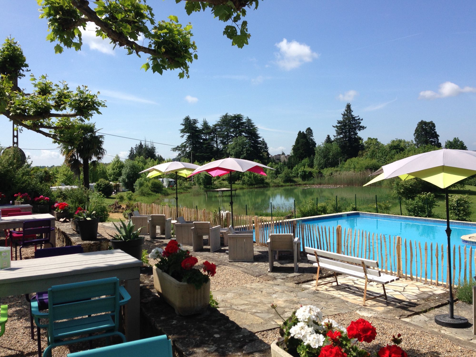 A relaxed Dordogne campsite with a swimming pool, a ...