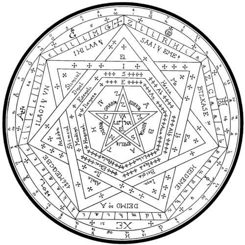 The Sigillum Dei Aemeth Kabbalistic Enochian Sigil Seal Design Bumper Sticker