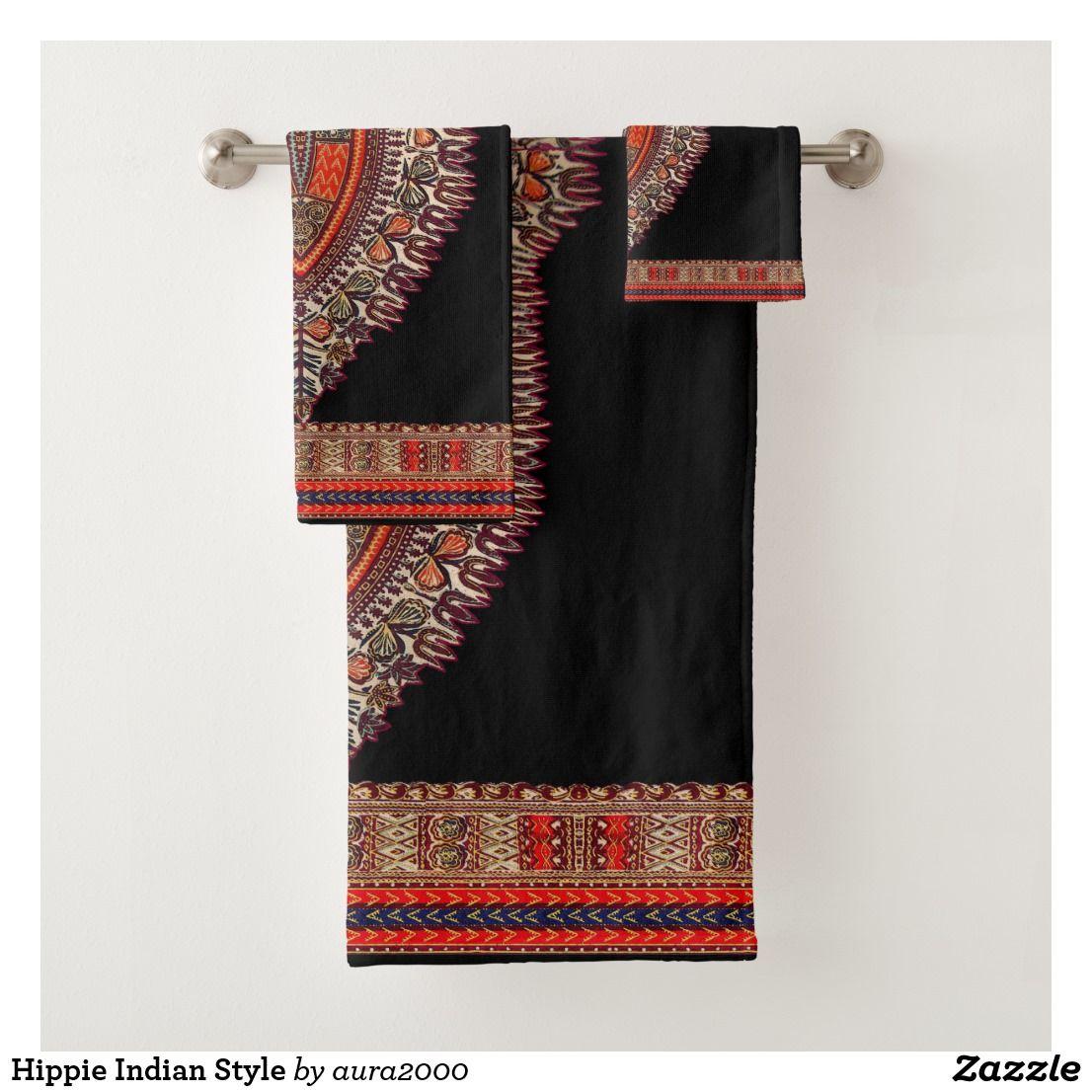 Hippie Indian Style Bath Towel Set | Zazzle.com | Towel ...