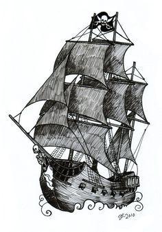 Pin De Carlos Rojas En Words And Ink Tatuajes De Barcos Tatuajes Barco Pirata Dibujos De Piratas