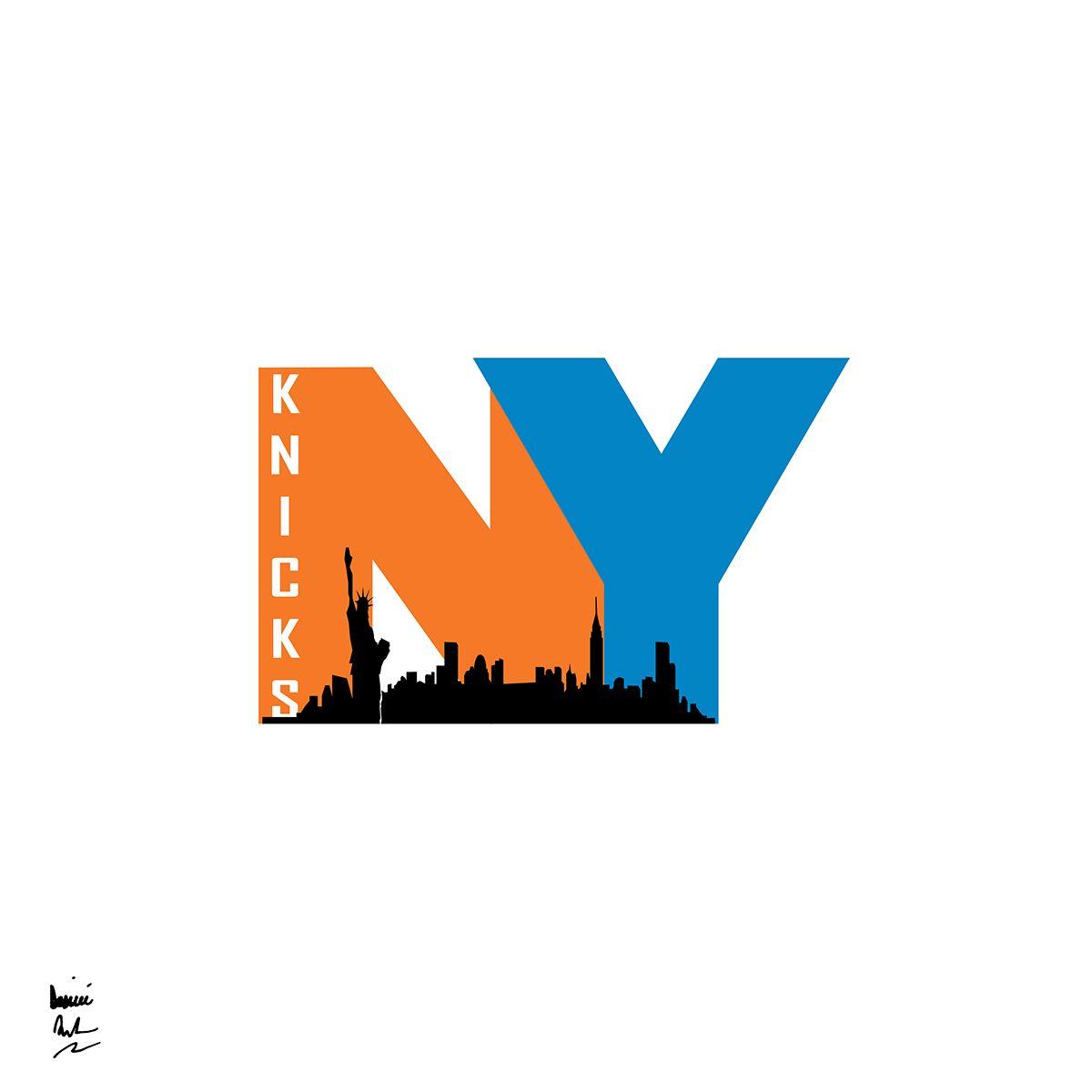 nba logo redesigns 2 new york knicks concept logos pinterest rh pinterest com nba logo font style font of nba logo