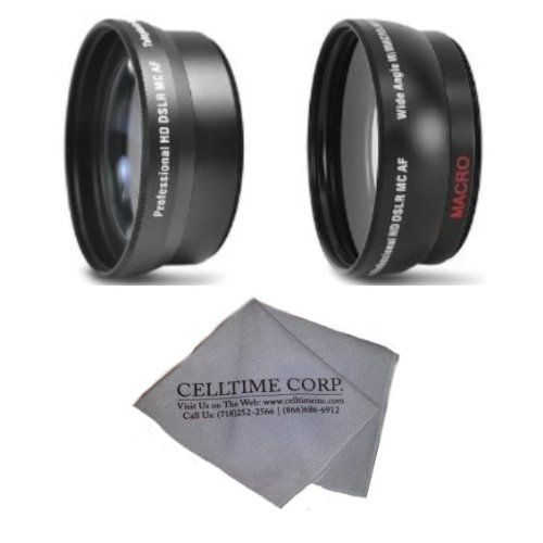 72mm 22x Telephoto And 043x Wide Angle High Definition Lenses For