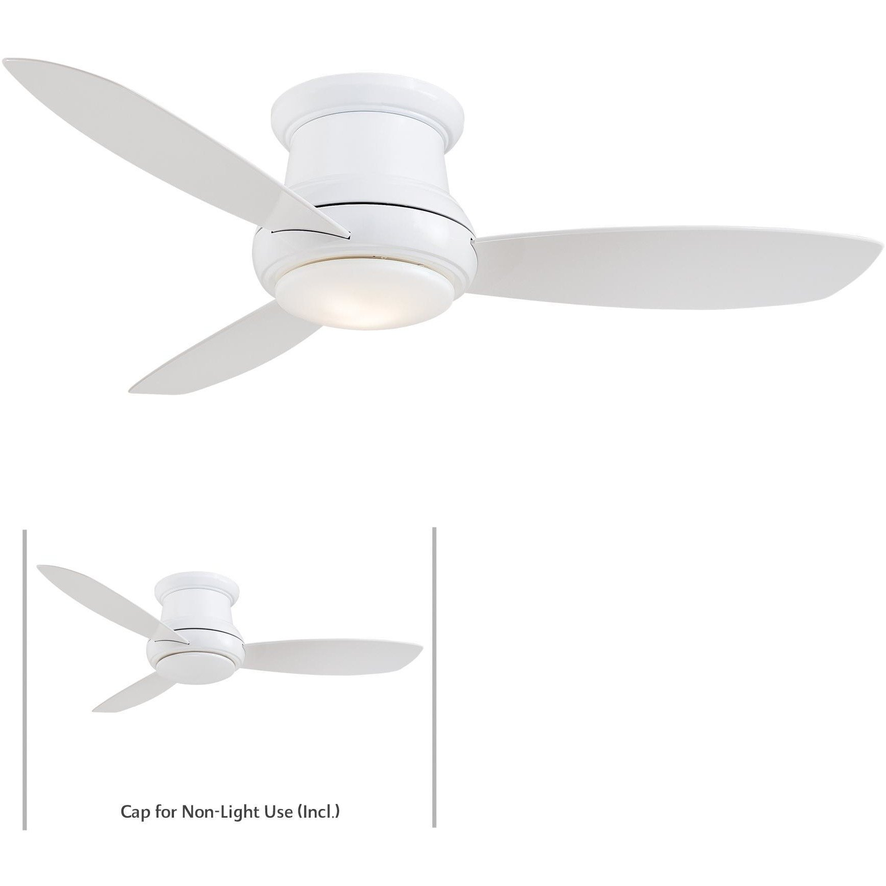 Minka Aire Concept Ii 52 In Integrated Led Indoor White Ceiling Fan With Remote Ceiling Fan With Remote Ceiling Fan Flush Mount Ceiling Fan
