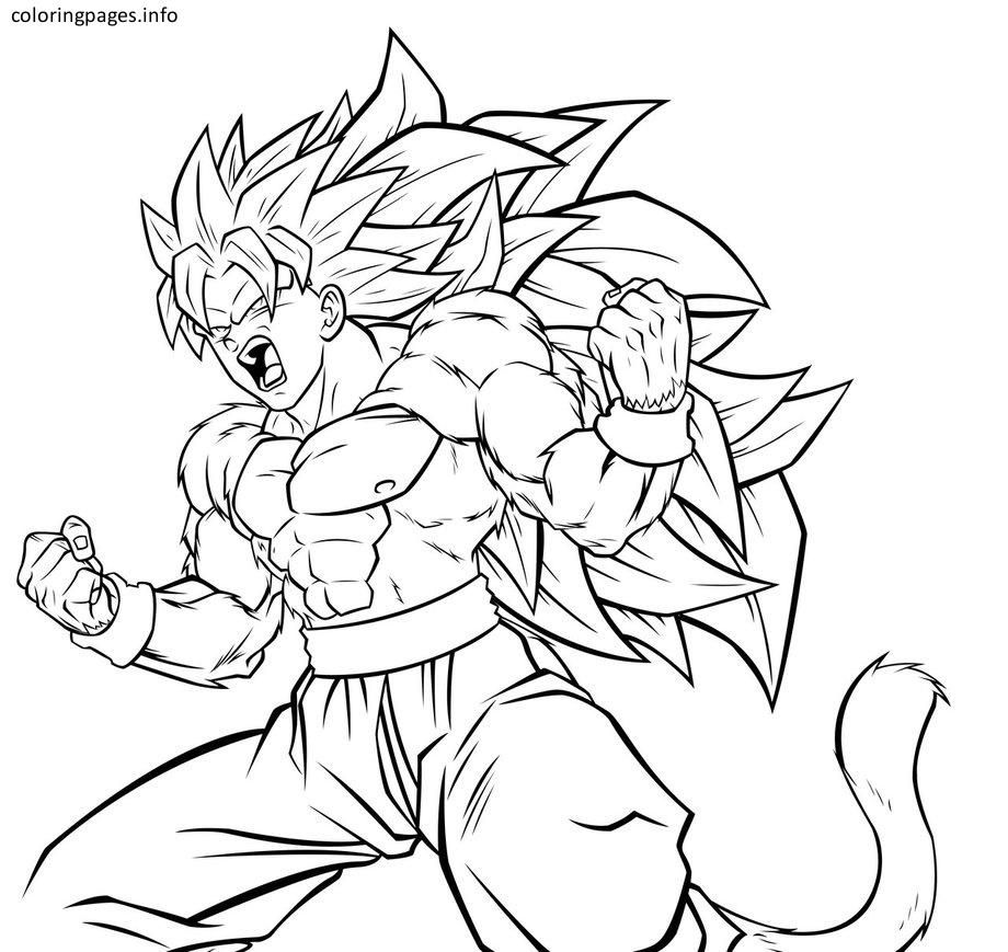 ssj3 goku coloring pages coloring pages pinterest goku free