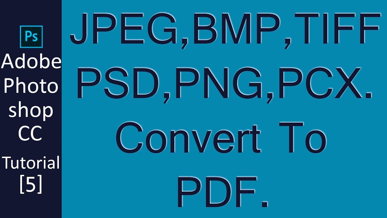 How to make pdf in photoshop