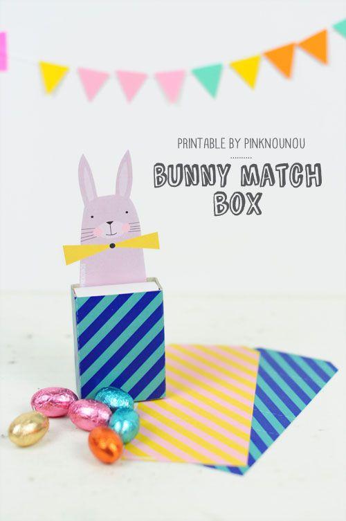 Easter bunny match box printable  - by PinkNounou