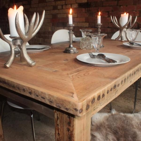 Hoxton Reclaimed Wood Table  Reclaimed Wood Dining Table Bespoke Adorable Rustic Wood Dining Room Tables Inspiration Design
