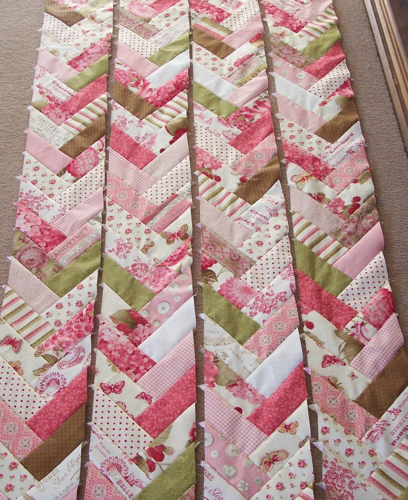 photo regarding Free Printable Chevron Quilt Pattern titled willow jellyroll\\ jelly roll which this practice is