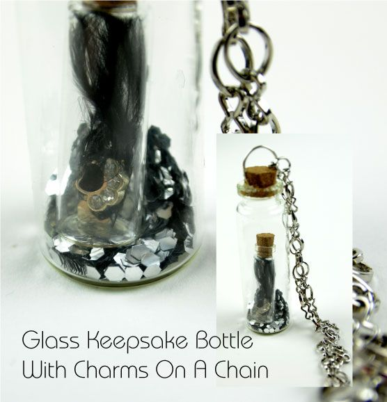 Create fabulous keepsakes with our glass cork top bottles, charms and fillers