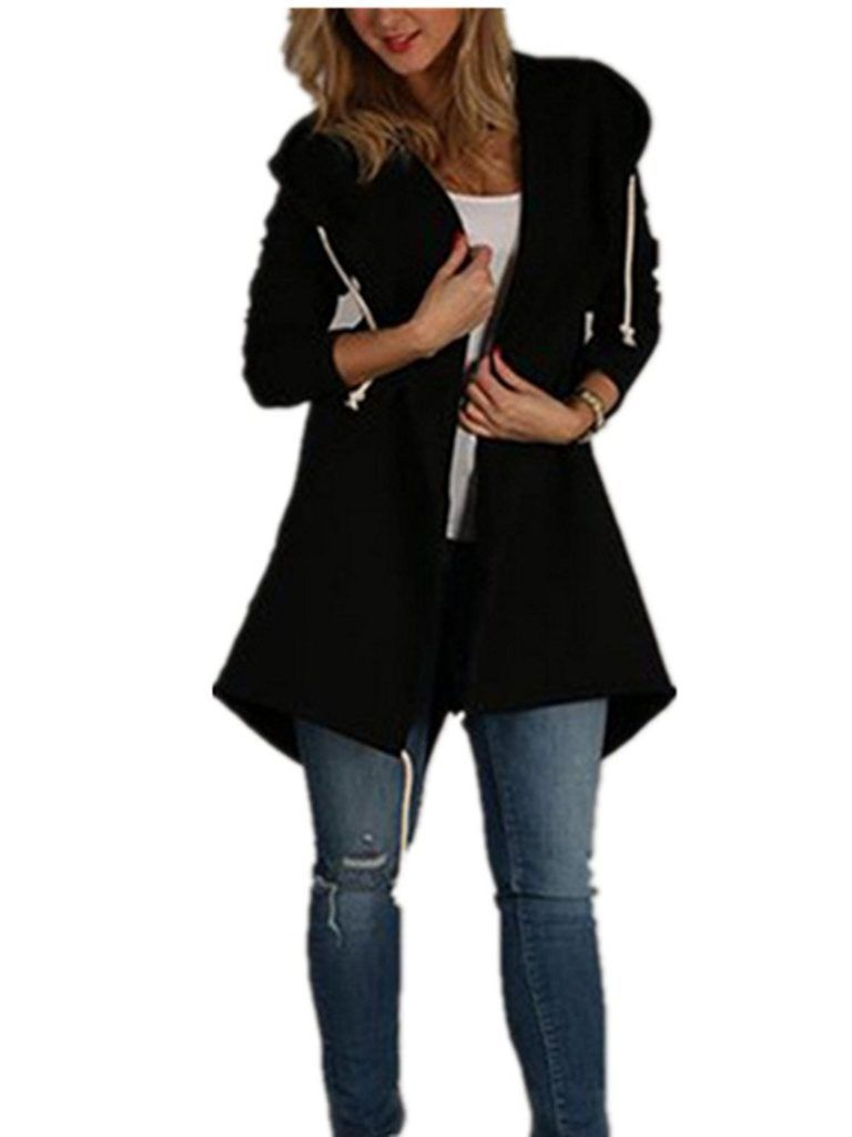 fb6dc3bb75c Xuan2Xuan3 Women Long Sleeve Fleece Casual Cardigan Hoodies Sweatshirts  Tunic Sweater Loose Outerwear Coat Jacket