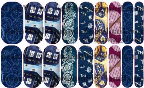 Custom Dr. Who Jamberry nails! amandagibson.jamberrynails.net