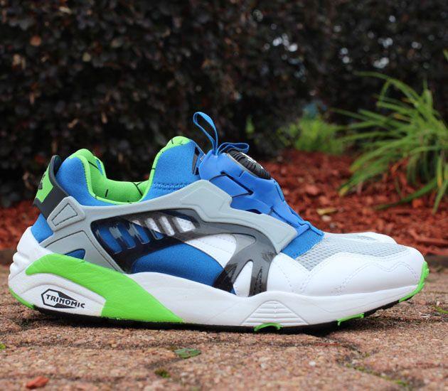 Puma Disc Blaze Og White Snorkel Blue Green Flash