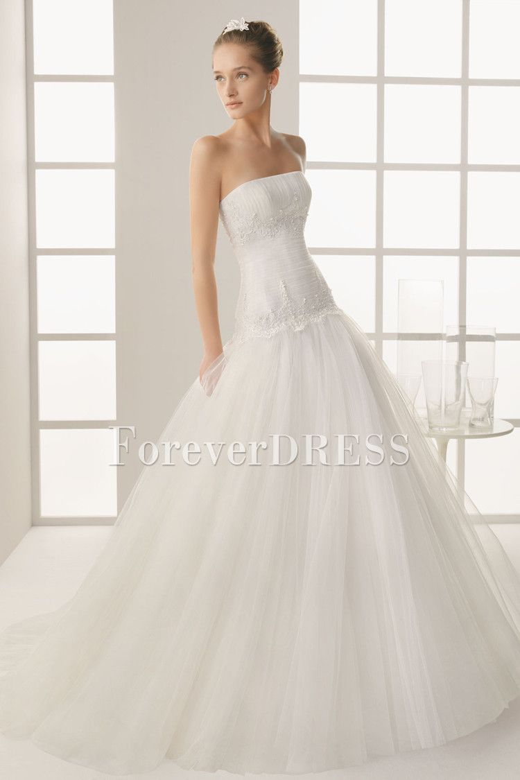 Petticoat for wedding dress  Stunning Strapless OfftheShoulder Tucked Ball Gown Wedding Dress