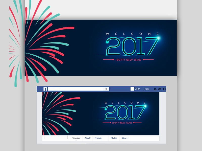 Happy New Year Facebook Cover Free Psd Happy New Year Facebook Free Psd Facebook Cover