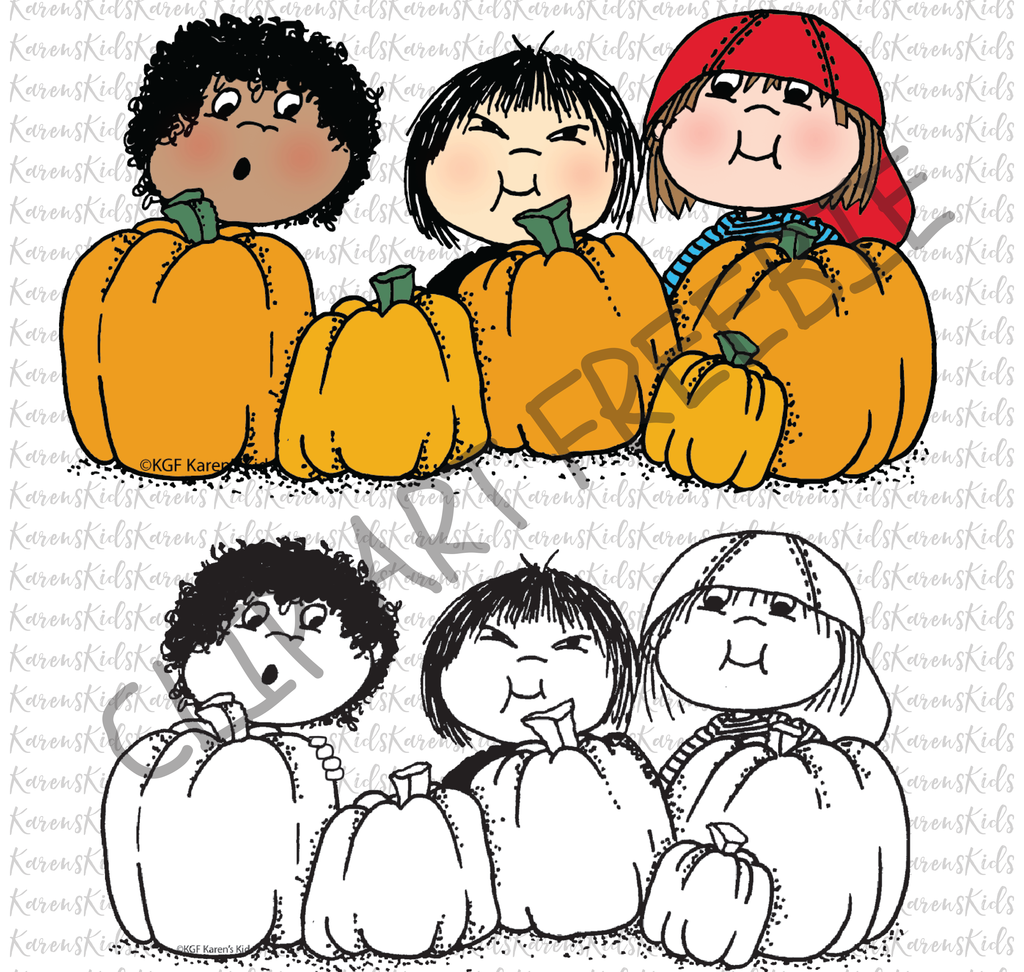 Free Clip Art of the Month - October Freebie #clipartfreebies Download this cute Halloween clipart FREEBIE.  A new Karen's Kids seasonal image is available every month for 30 days.  No purchase necessary. Download your October Freebie at karenskidsstudio.com today. #clipartfreebies